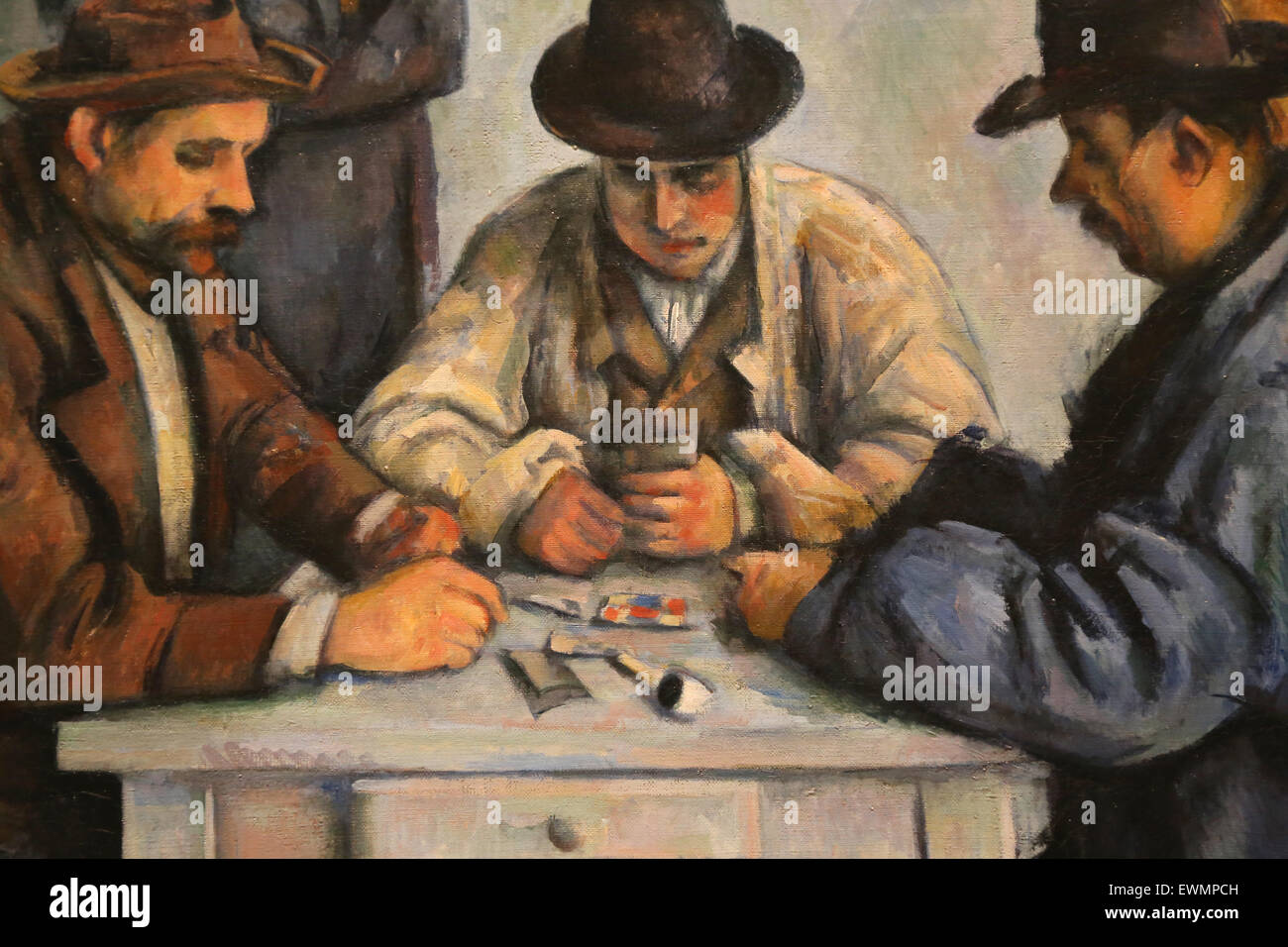 Paul Cezanne (1839-1906).  French painter. The Card Players, 1880-92. Oil on canvas. Metropolitan Museum of Art. - Stock Image