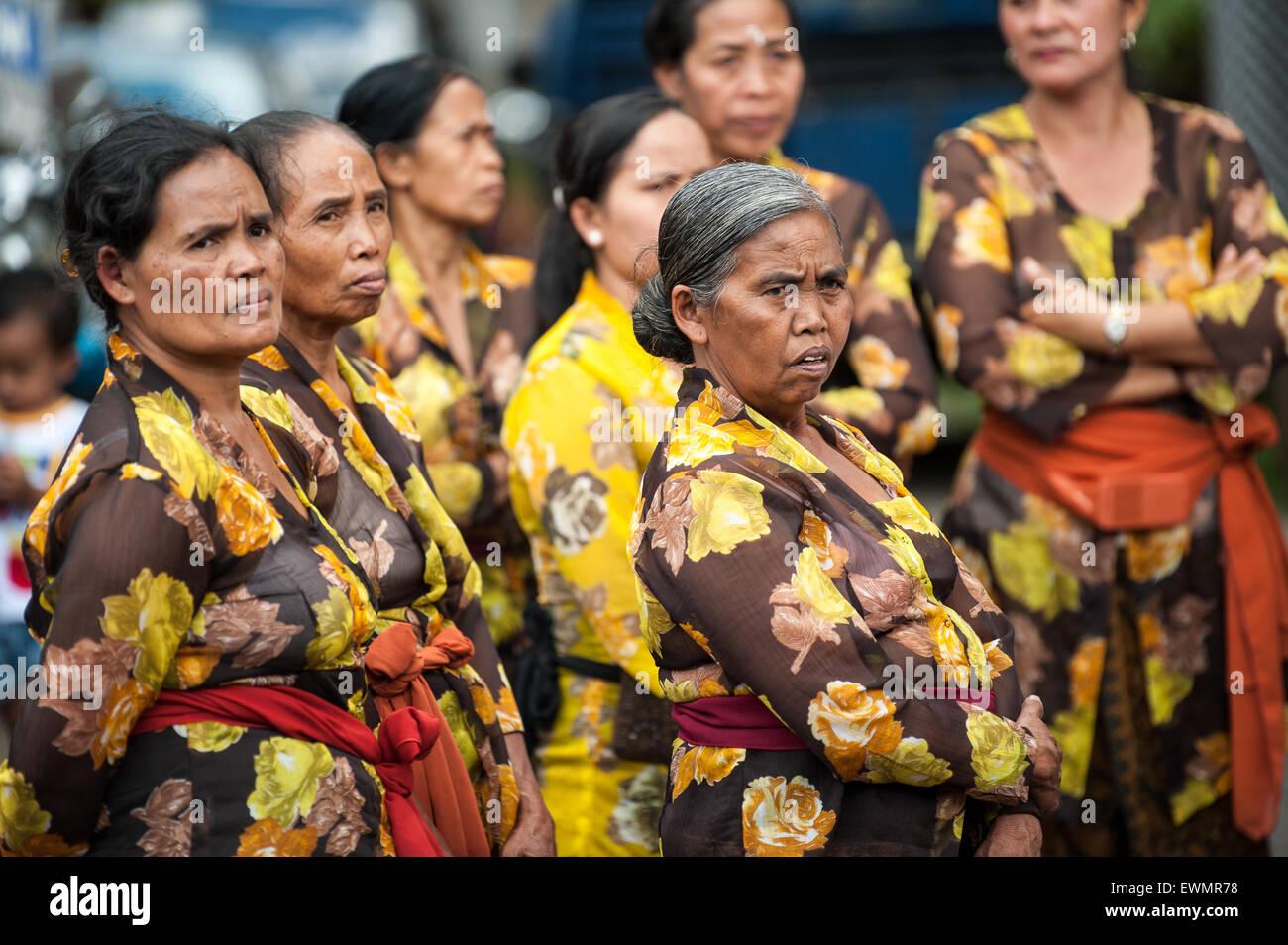 Funeral ceremony for Tjokorda Putra Dharma Yudha at Ubud, Bali, Indonesia, 28/7/2012. - Stock Image