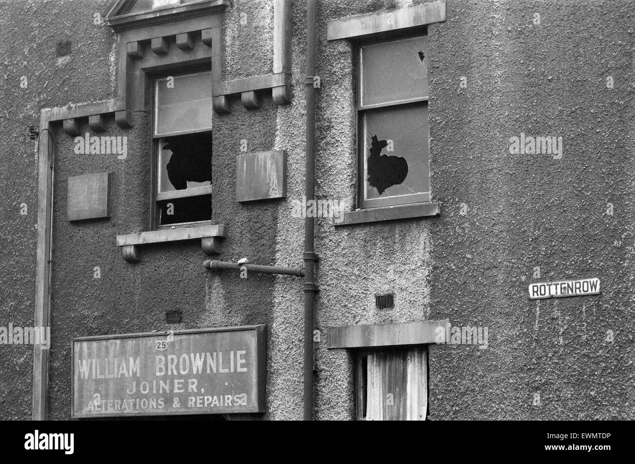 Derelict Building, Rottenrow, Glasgow, Scotland, 6th March 1971. Face of Britain 1971 Feature. William Brownlie Stock Photo