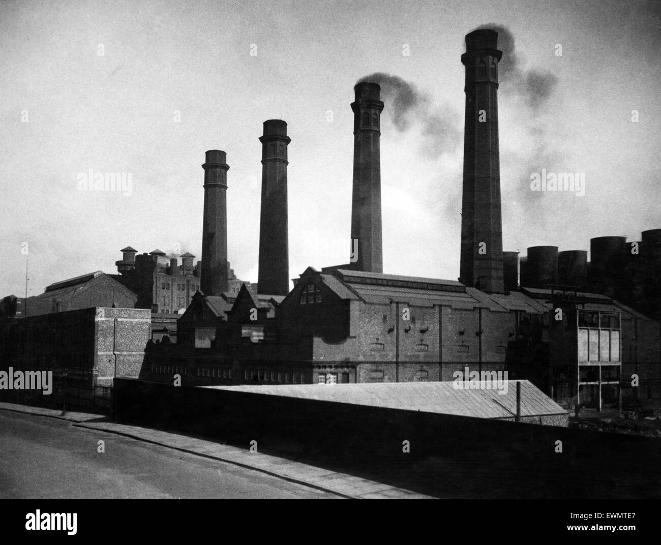 Lister Drive Power Station, Liverpool. 3rd June 1936 Stock ...