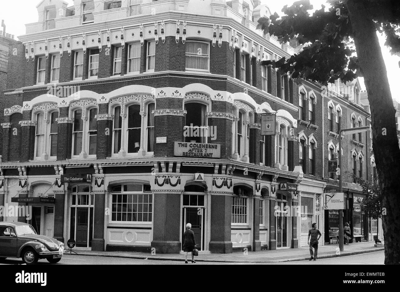 The Coleherne After 7 Restaurant, Coleherne Road, Earls Court, London, SW7, 11th September 1971. - Stock Image