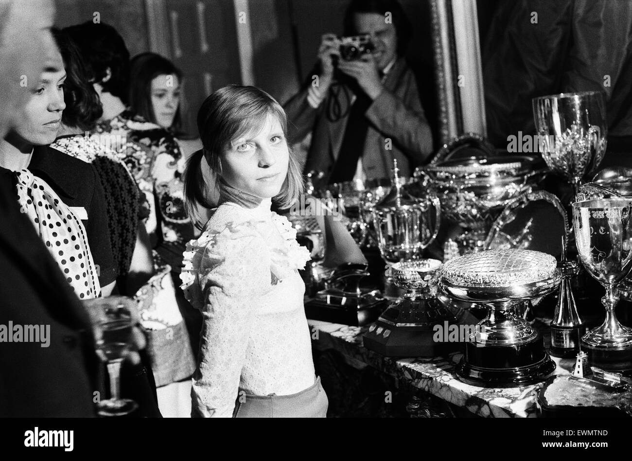 Eighteen year old Olga Korbut, the Soviet gymnast at Downing Street where she was invited to meet the Prime Minister - Stock Image