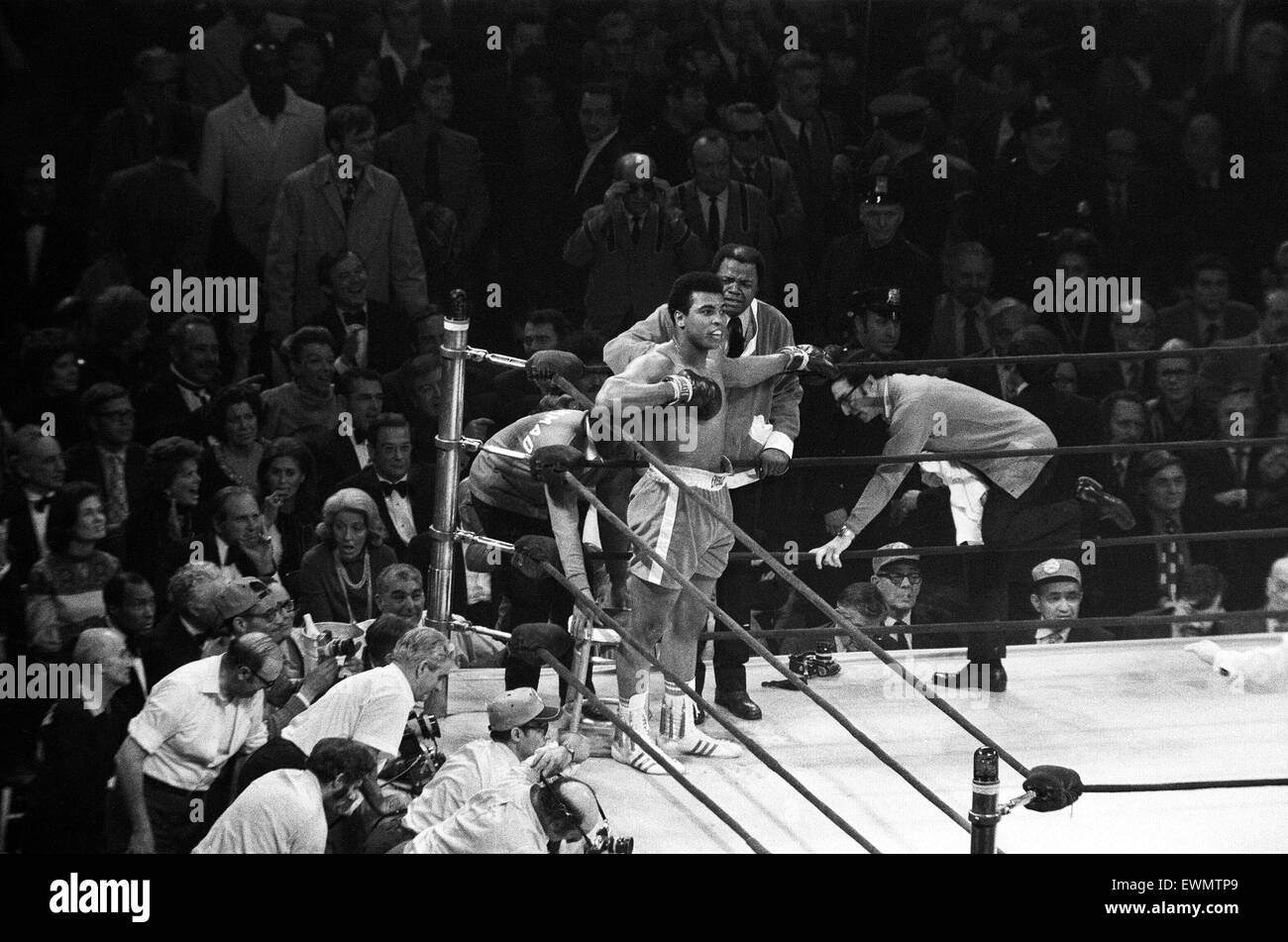The Fight of the Century (also known as The Fight) is the title boxing writers and historians have given to the - Stock Image