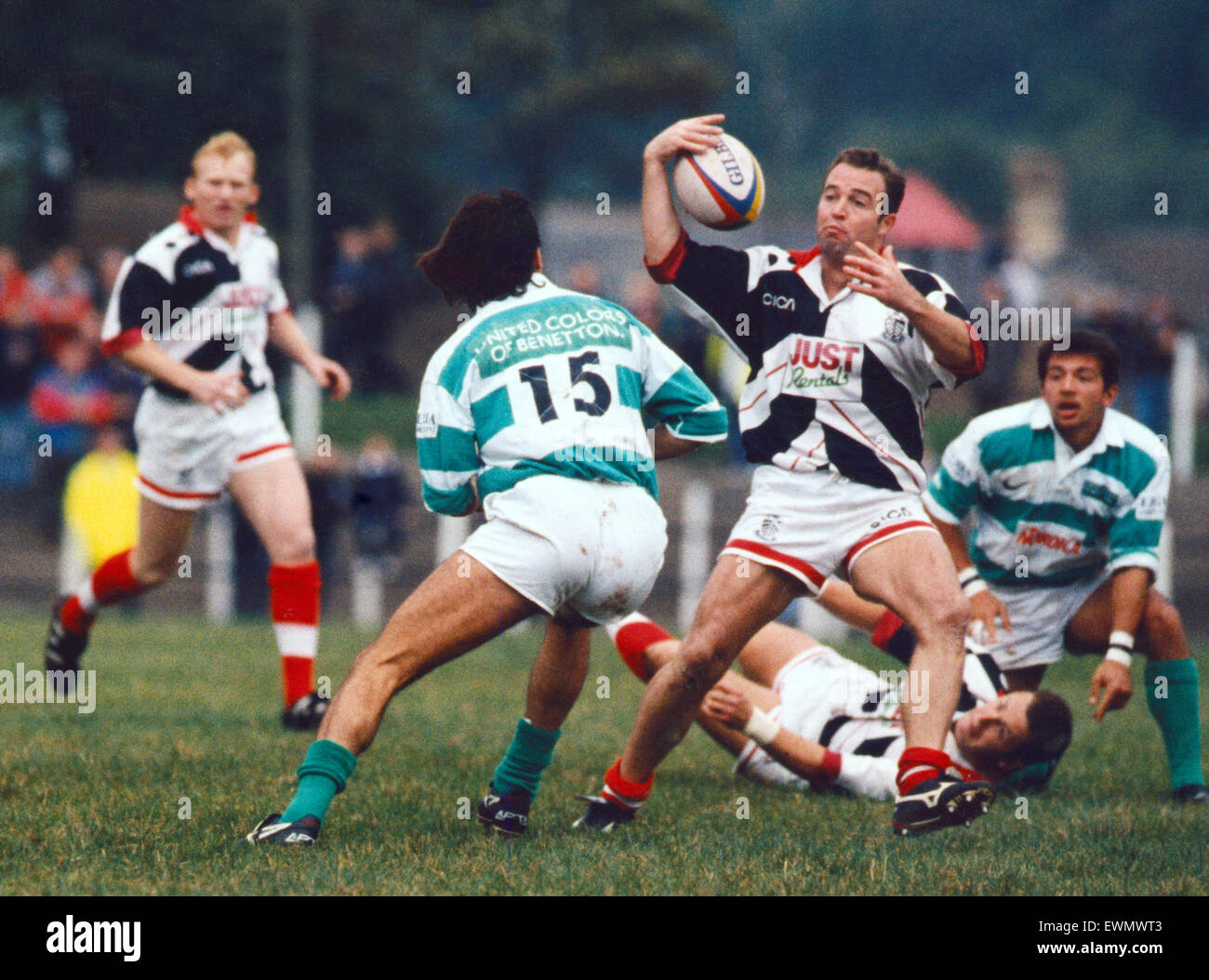 Rugby player David Manley, circa 1997. - Stock Image
