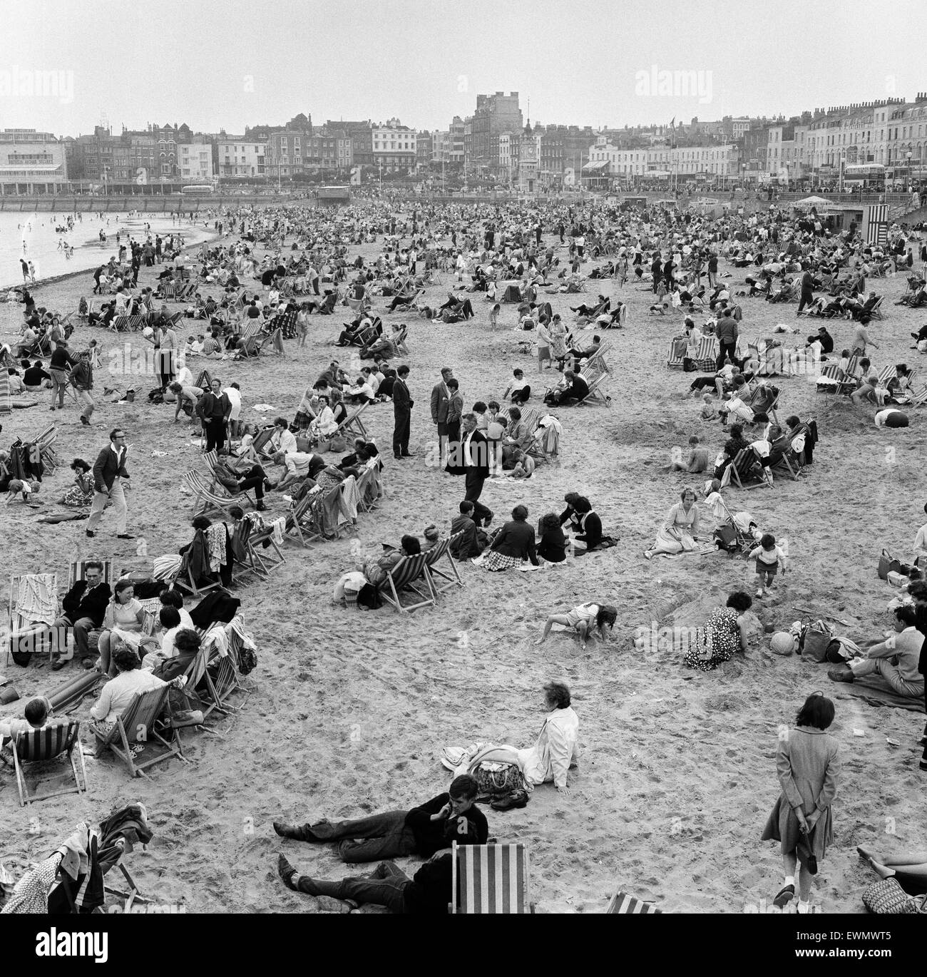 Holiday scenes in Margate, Kent. August 1963. - Stock Image