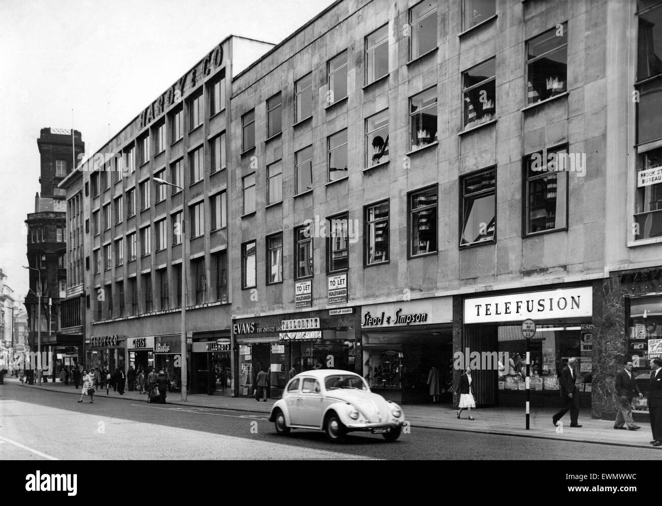 Lord Street, one of the main shopping streets in Liverpool, Merseyside, circa 1965 - Stock Image