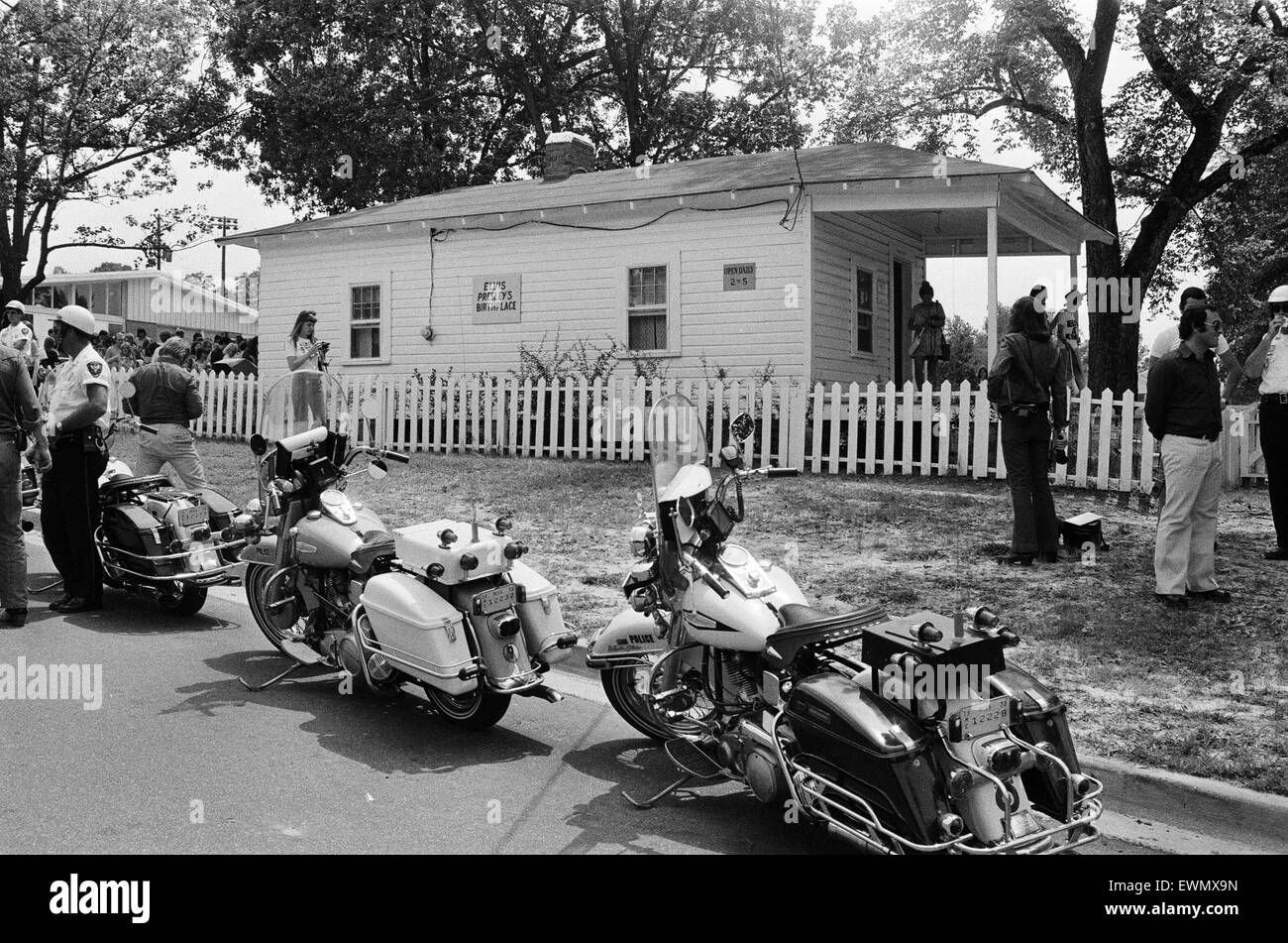 Home and Birthplace of Elvis Presley in Tupelo, Lee County, Mississippi, USA, 27th August 1973. - Stock Image