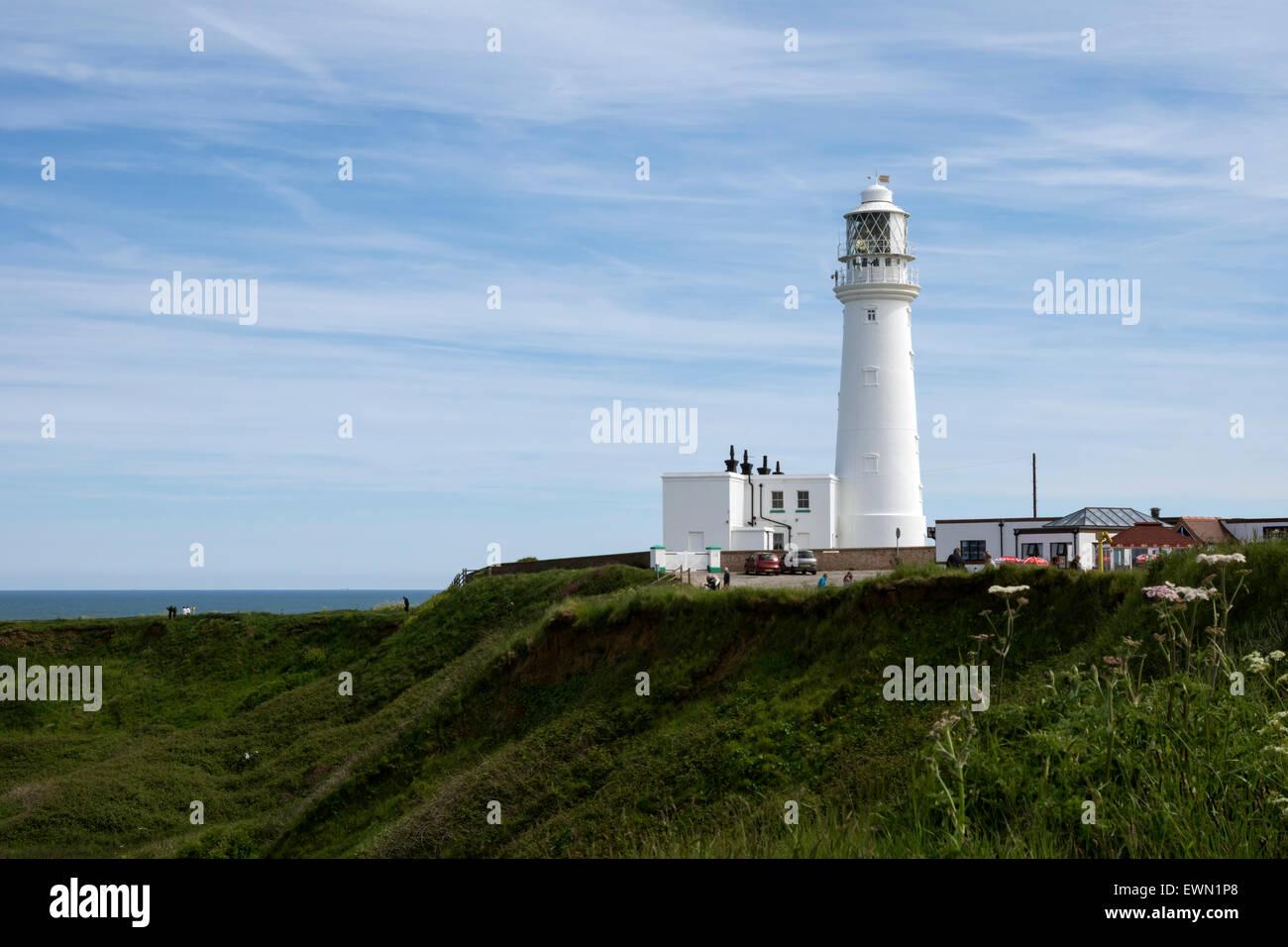 Lighthouse, Flamborough Head, Yorkshire - Stock Image