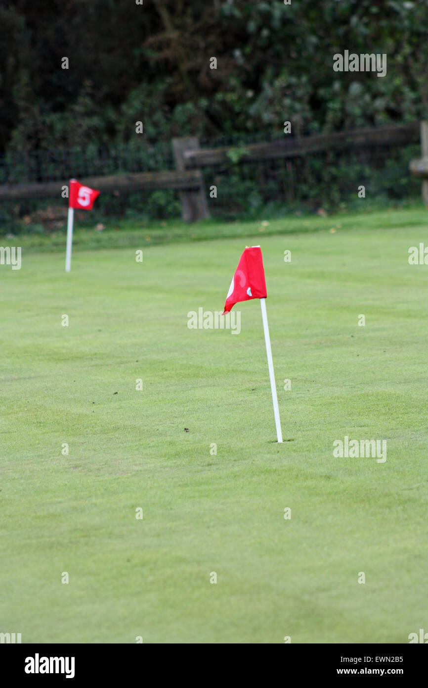 Pitch & Putt Course - Stock Image