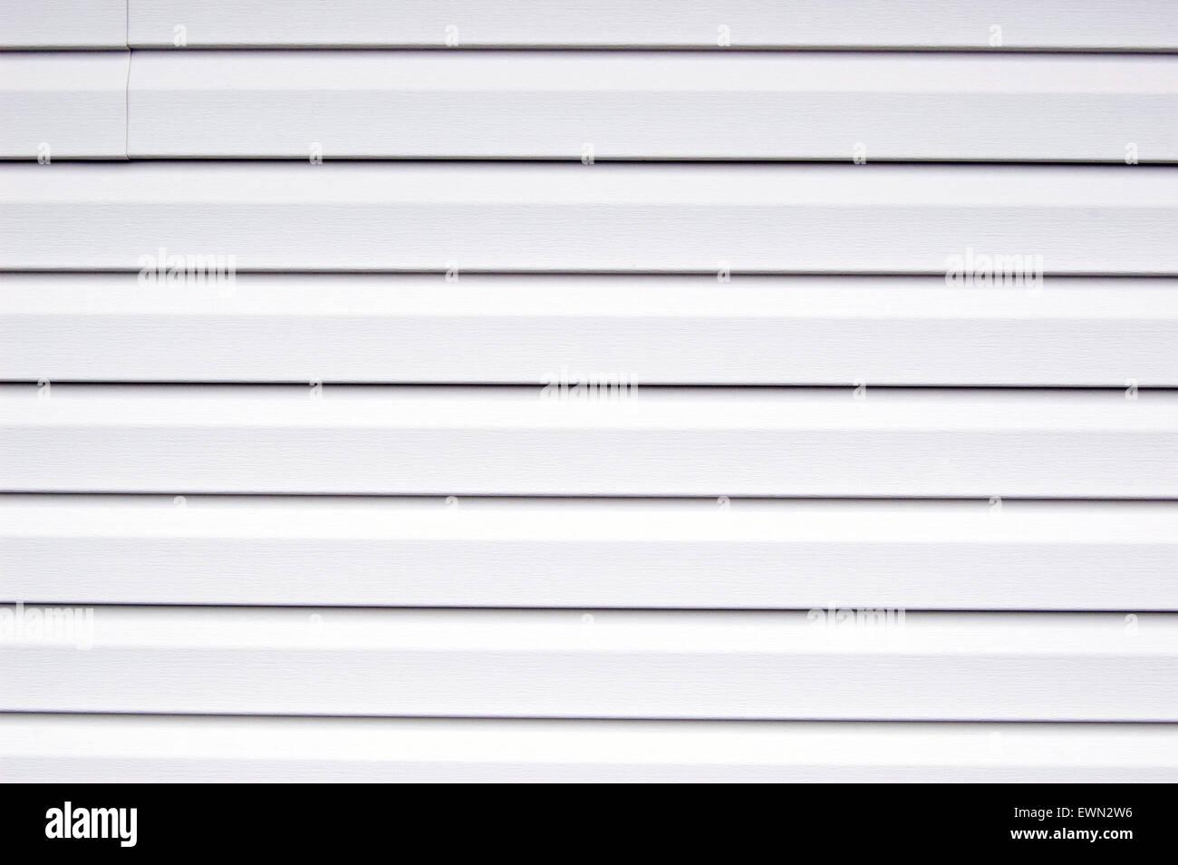 Aluminum siding horizontal shot close up. - Stock Image