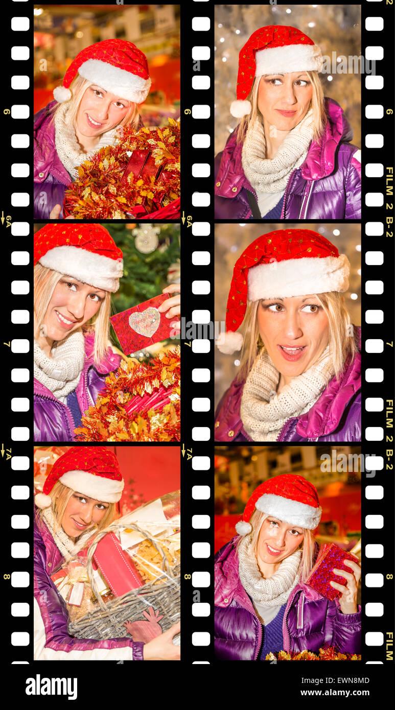Christmas Shopping - Stock Image