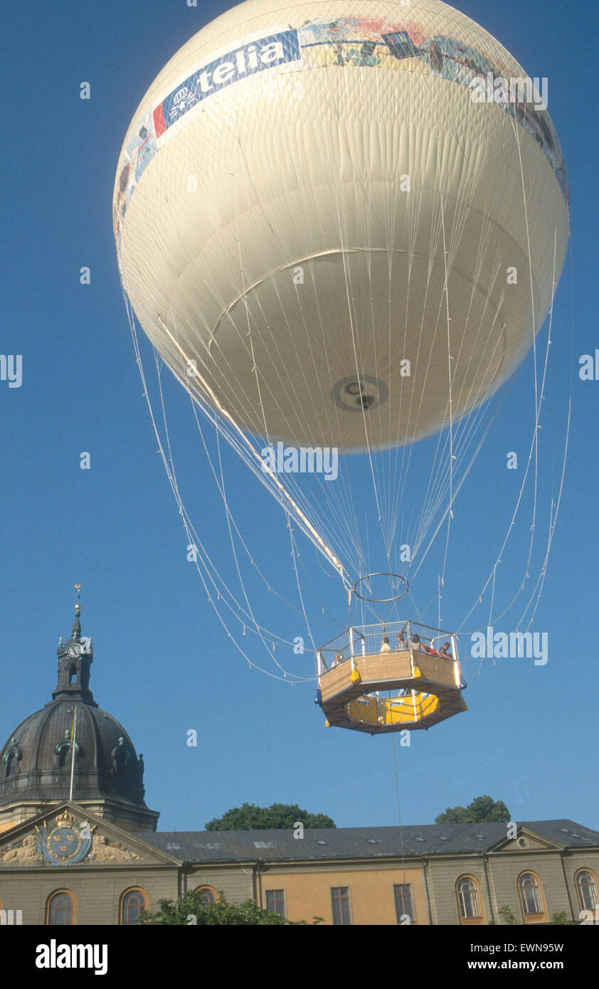 STOCKHOLM SWEDEN. A BALOON FOR VIEWING THE CITY FROM ABOVE - Stock Image
