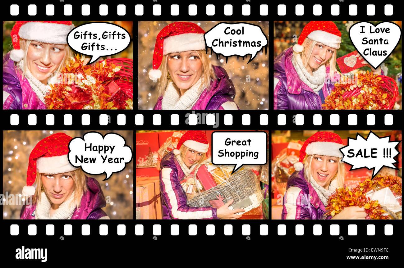Christmas Comincs - Stock Image