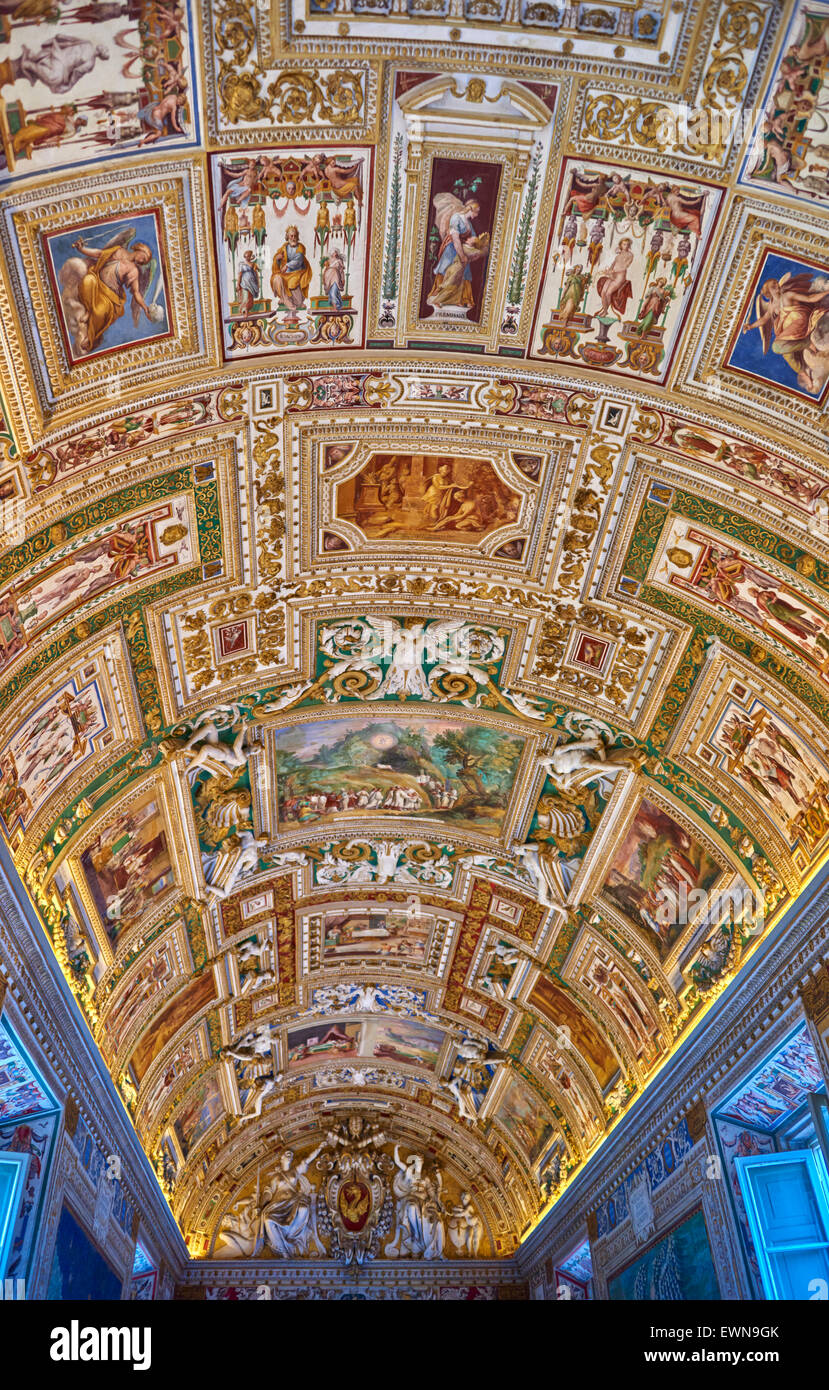 The Vatican Museums (Italian: Musei Vaticani) are the museums of the Vatican City and are located within the city's - Stock Image