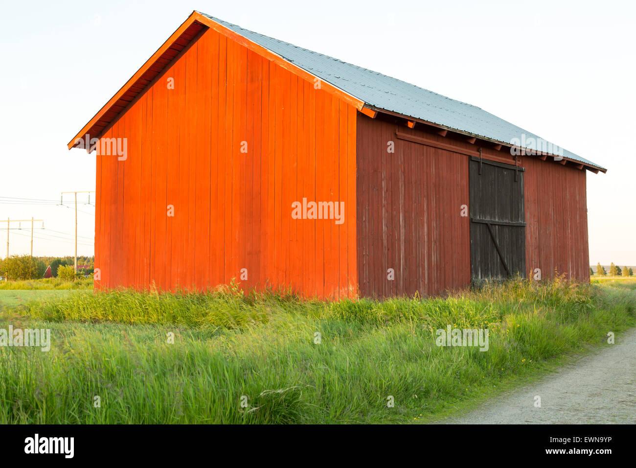 Swedish red Barn - Stock Image