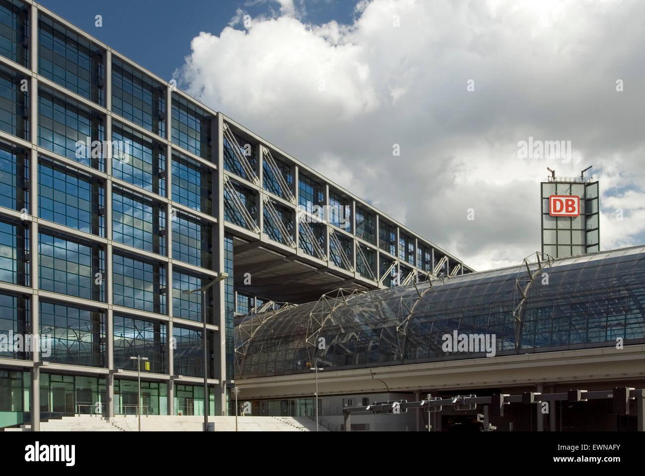 New main Railway Station Lehrter Berlin Germany Europe - Stock Image