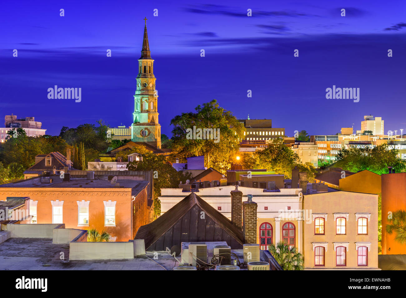 Charleston, South Carolina, USA town skyline. - Stock Image