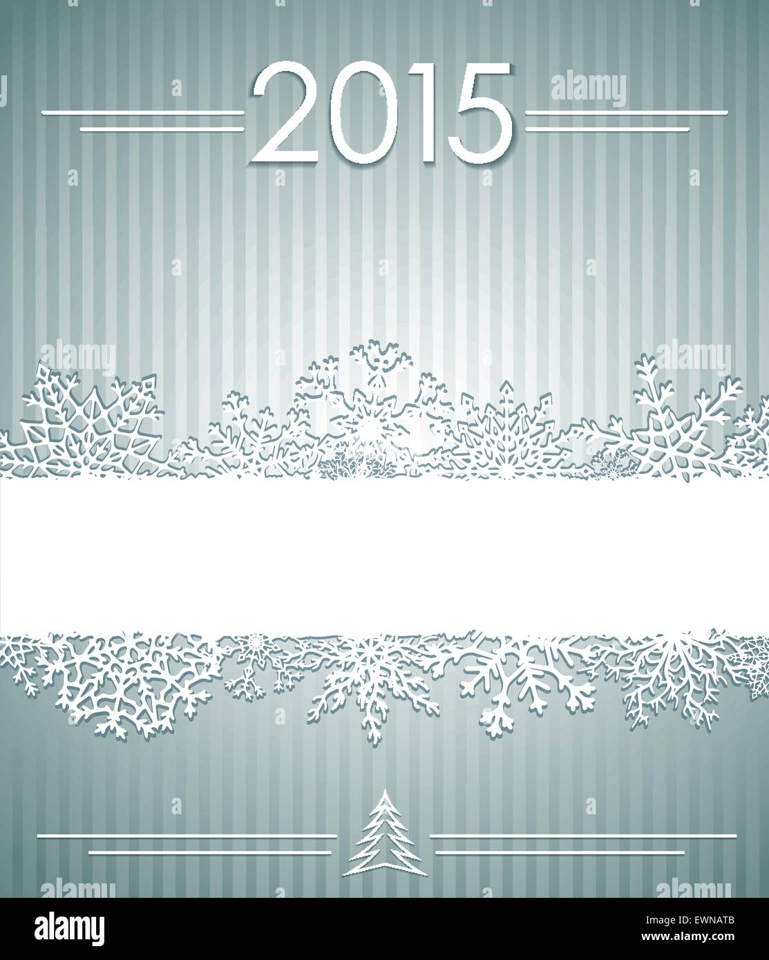 Christmas background with snowflakes. Vector eps10. - Stock Image