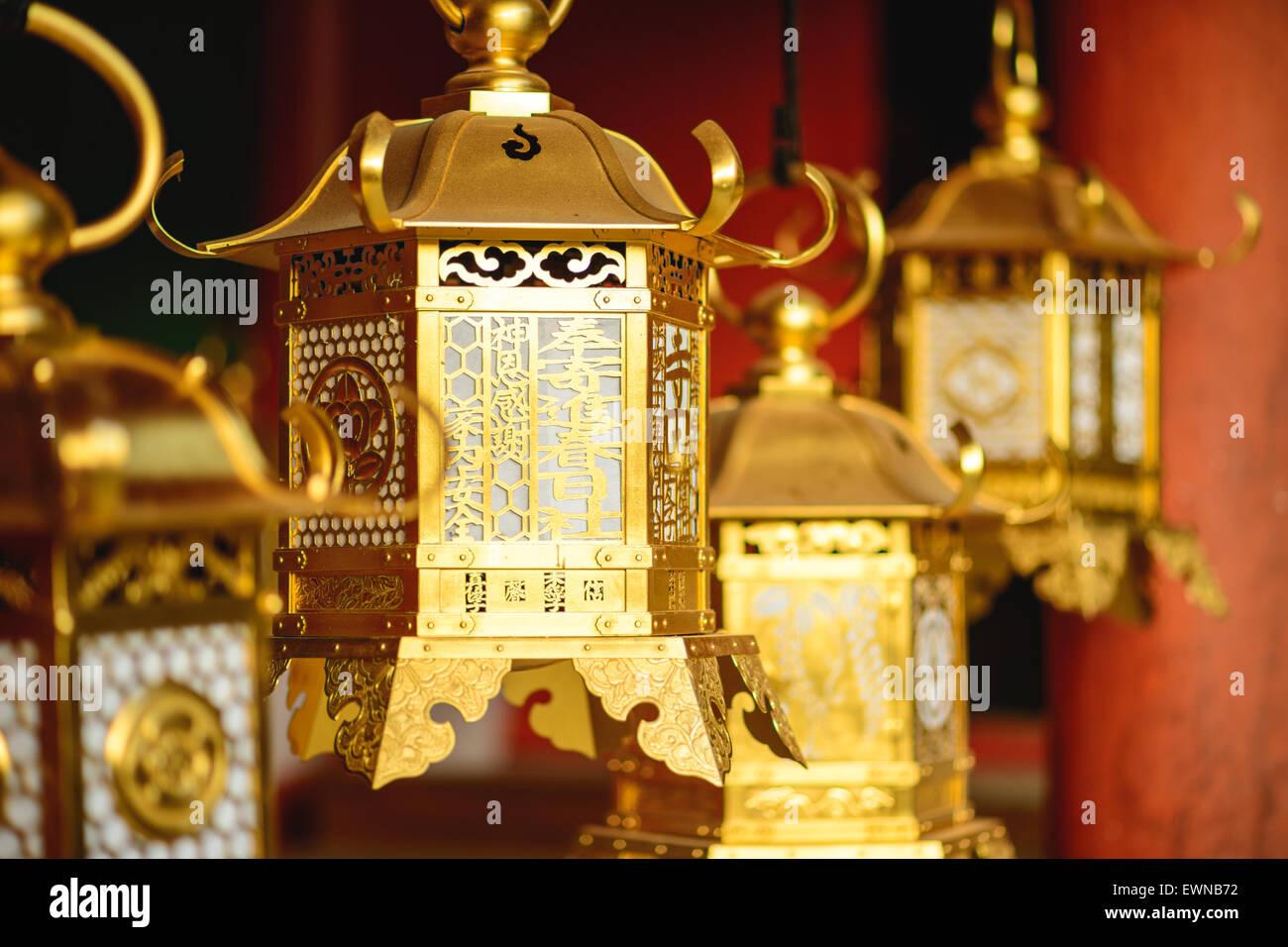 Nara, Japan, Japanese lanterns at Kasuga-taisha Shrine. - Stock Image
