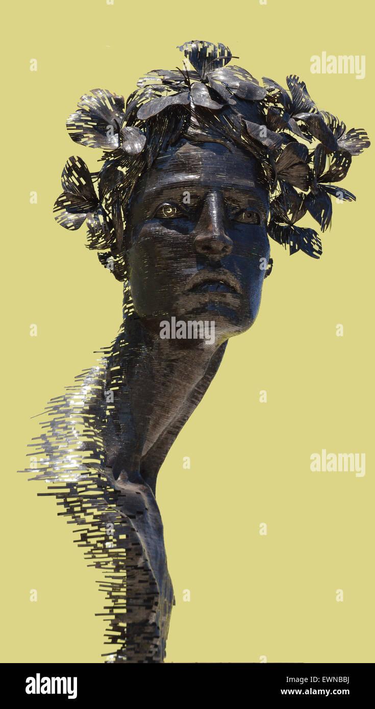 Havana, Cuba: Public art for Biennale 2015 - Primavera sculpture ...
