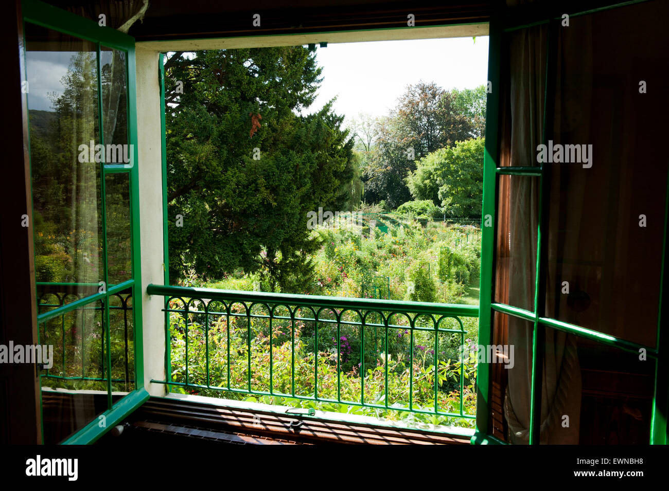 Claude Monet garden giverny departement eure france europe Stock Photo