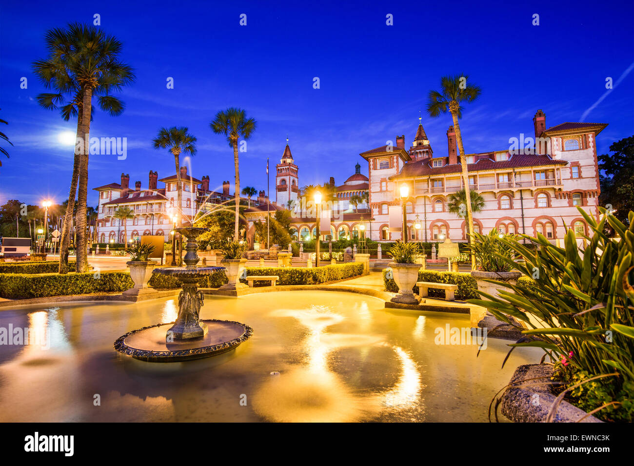 St. Augustine, Florida, USA downtown at Flagler College. - Stock Image