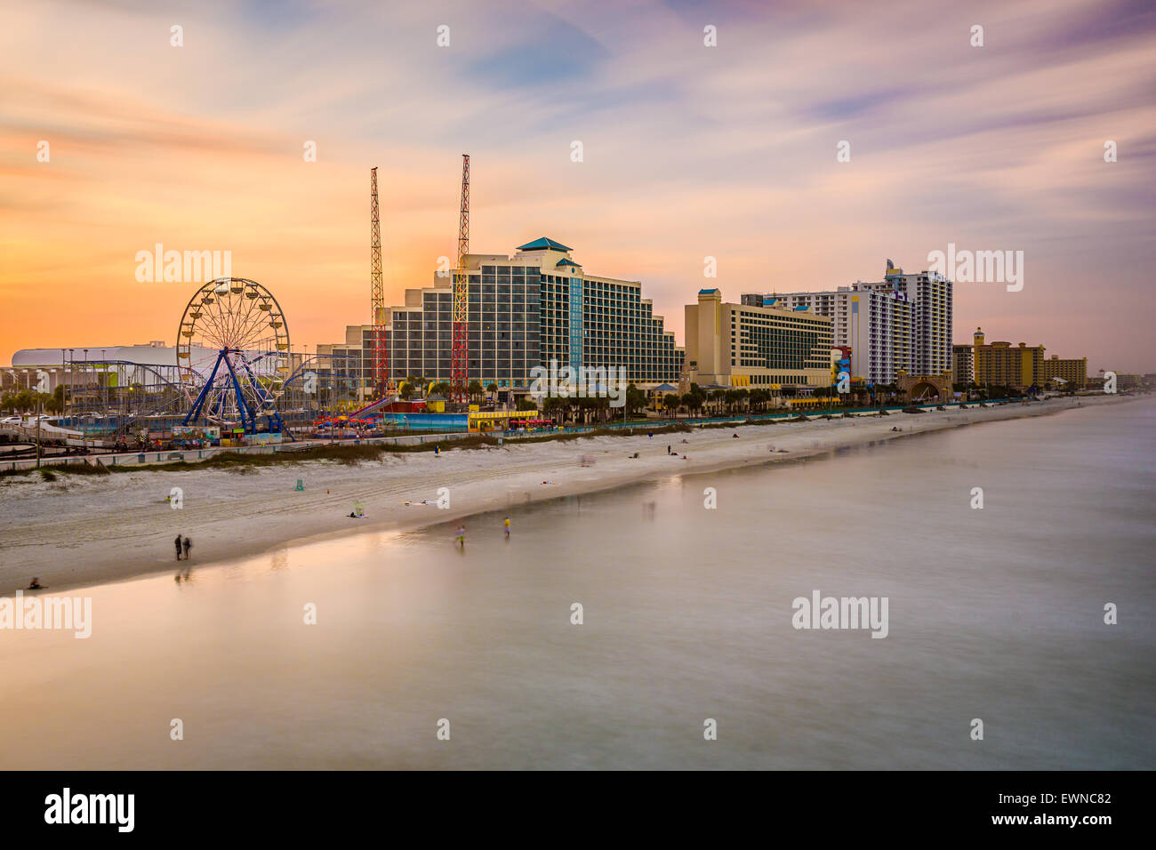 Daytona Beach, Florida, USA resorts skyline. - Stock Image