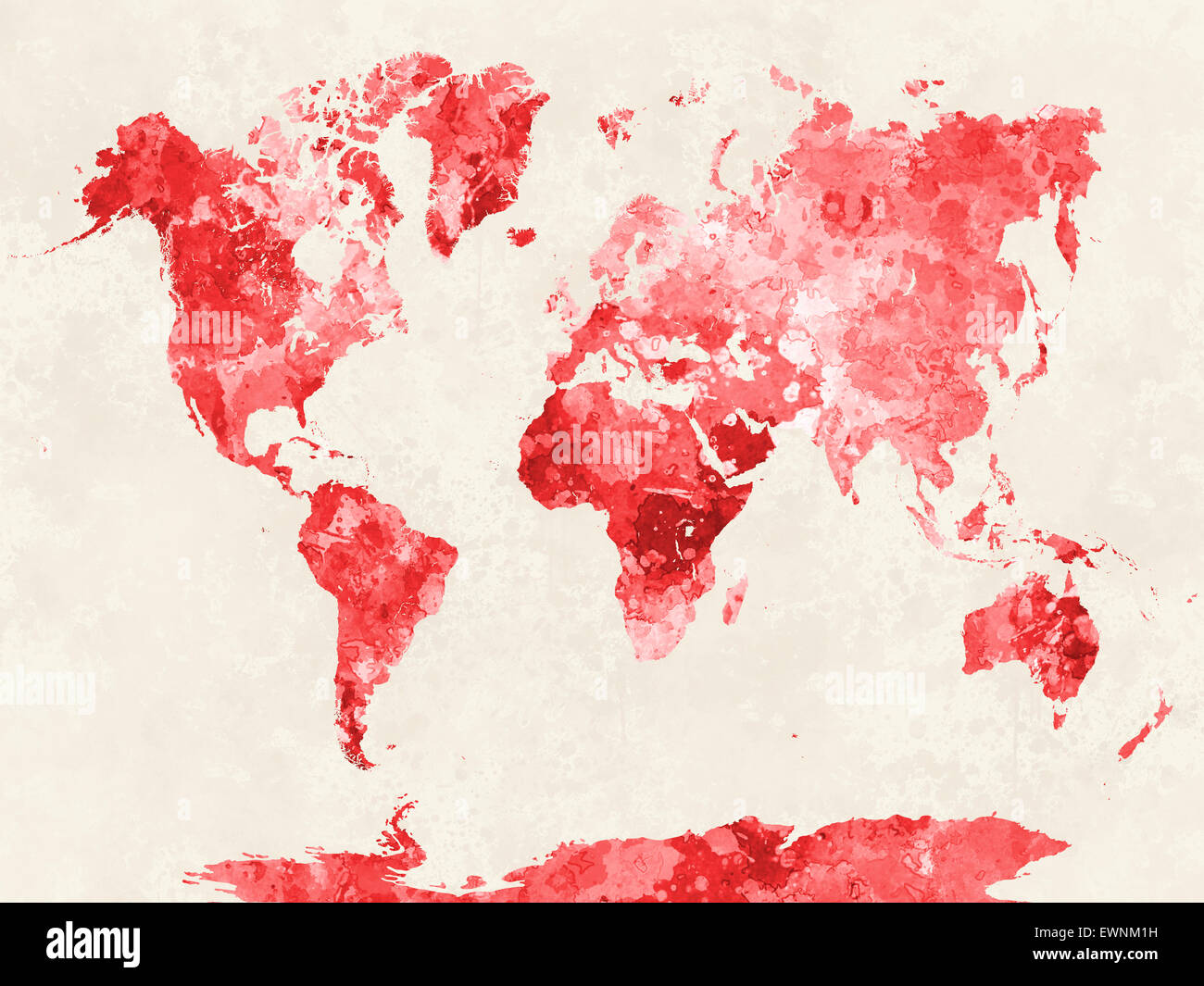 World map in watercolor painting abstract splatters stock photo world map in watercolor painting abstract splatters publicscrutiny Image collections