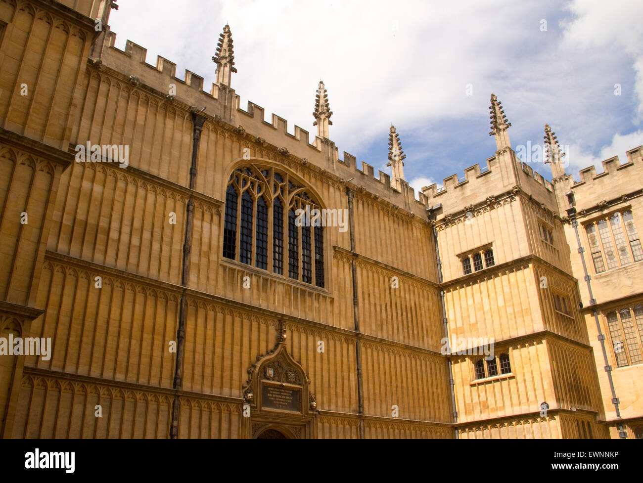Angled view of exterior of Bodleian Library, Oxford United Kingdom - Stock Image