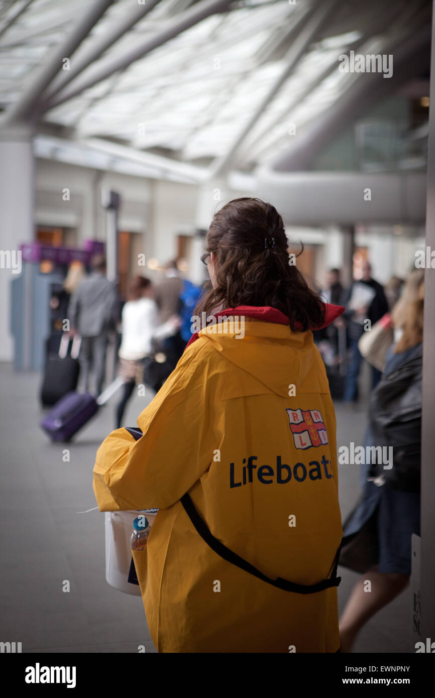 Lifeboat charity fundraiser - Stock Image