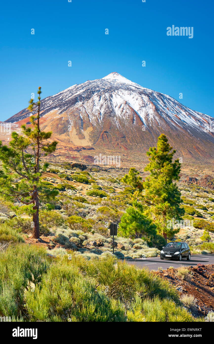 Mount Teide, Teide National Park, Canary Islands, Tenerife, Spain - Stock Image