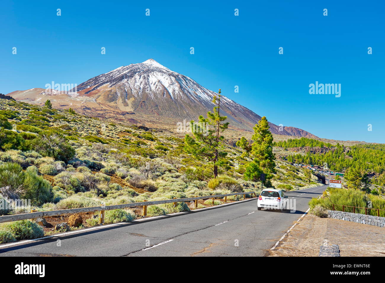Tenerife - the Road TF-24, Teide National Park, Canary Islands, Spain - Stock Image