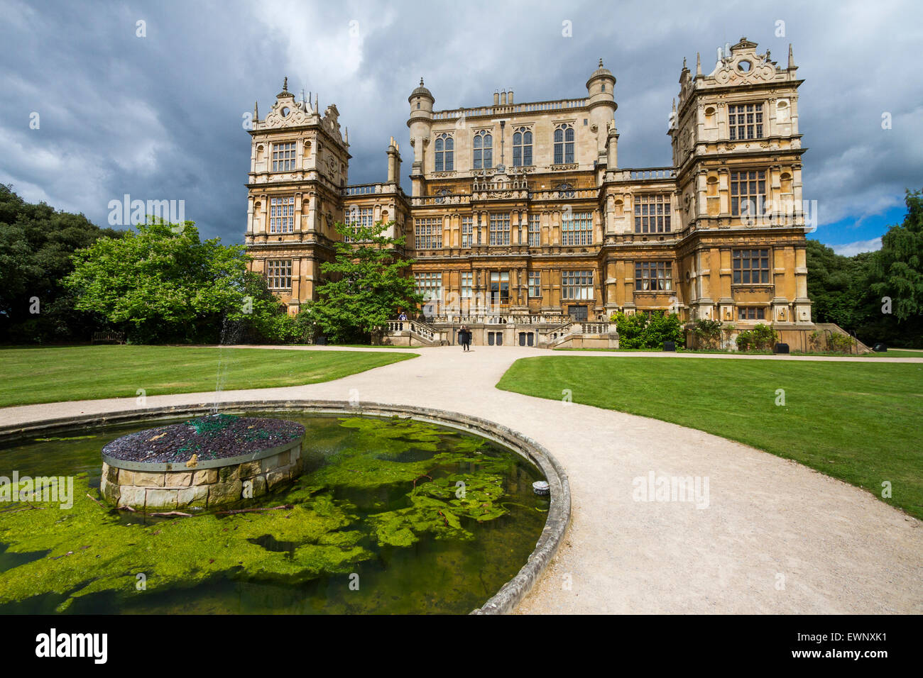 Wollaton Hall in Nottingham, England - Stock Image