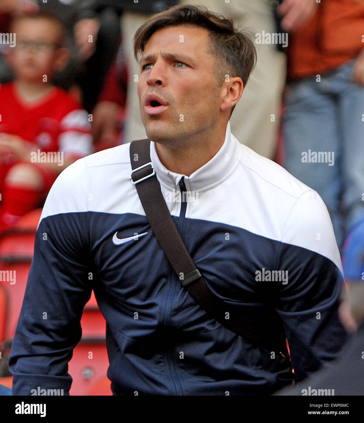 Towie Star Mark Wright Watches His Brother Play For Leyton Orient Stock Photo Alamy