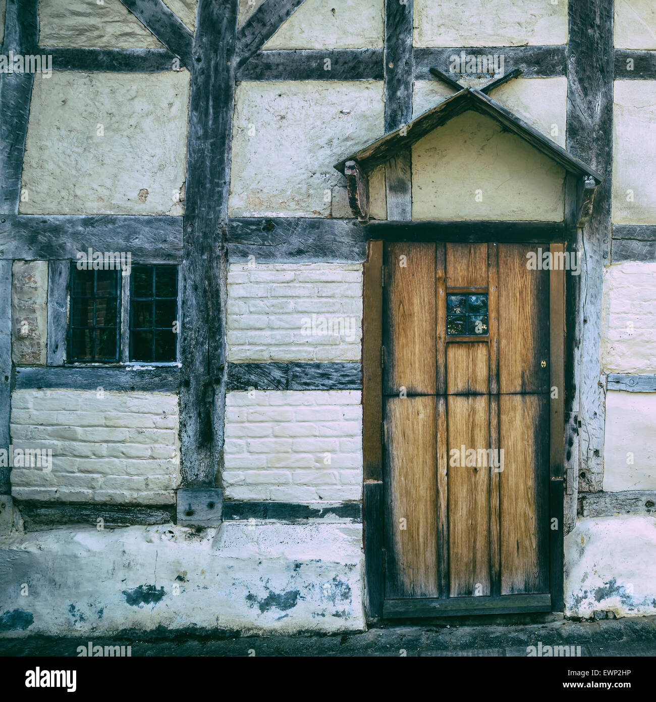 an old Tudor house - Stock Image