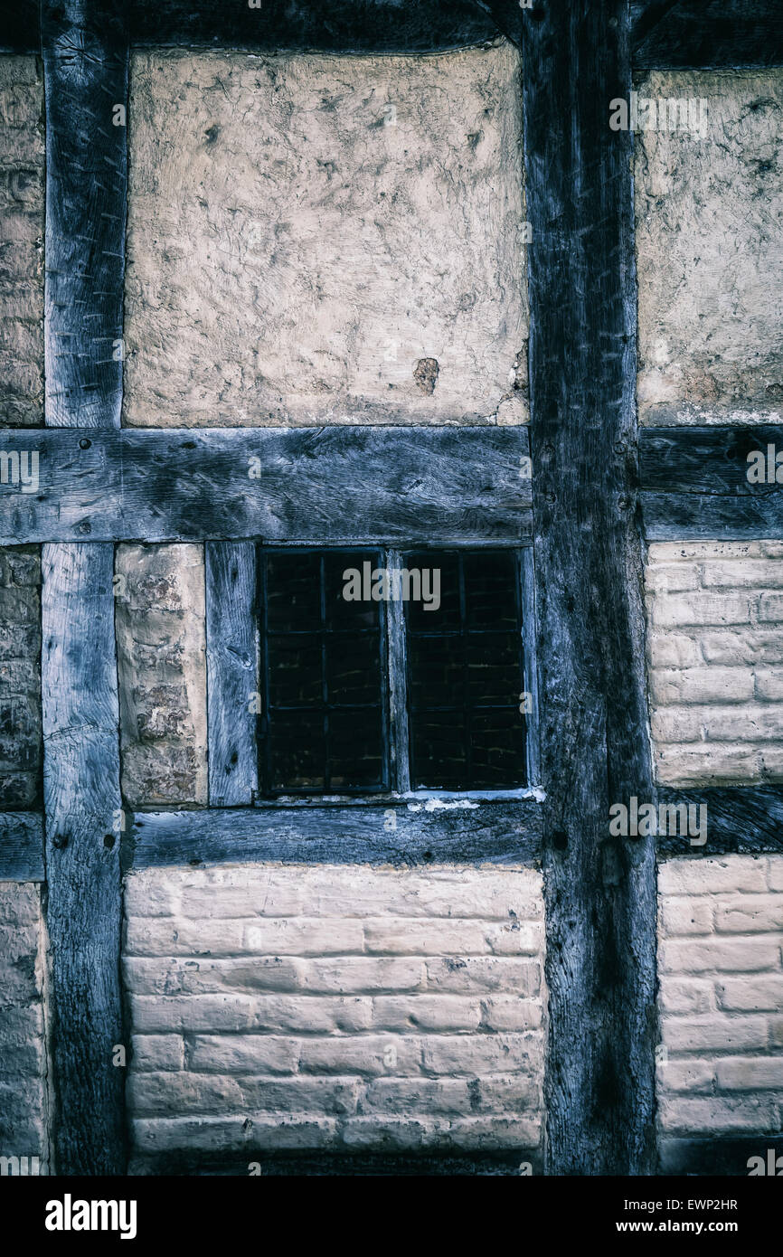 a window in an old Tudor house - Stock Image