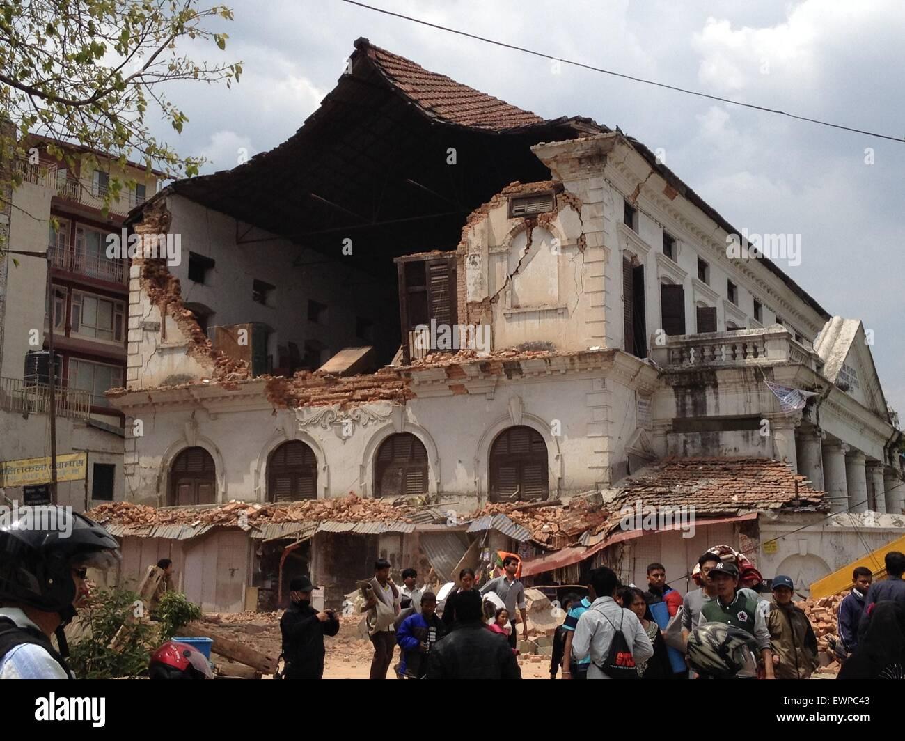 ce7355195f624a Kathmandu Durbar High School collapsed after the earthquake hit Kathmandu  on 25 April 2015 The Nepal earthquake (Saturday 25 April 2015) has  devastated the ...