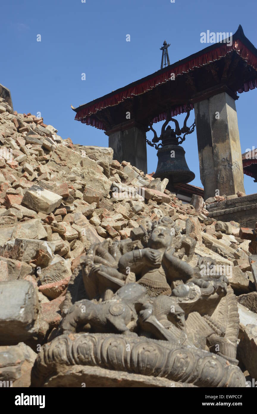 008ad2673ca730 Temple of Bhaktapur District collapsed after 7.9 magnitude earthquake hit  Kathmandu on 25 April 2015. The Nepal earthquake (Saturday 25 April 2015)  has ...