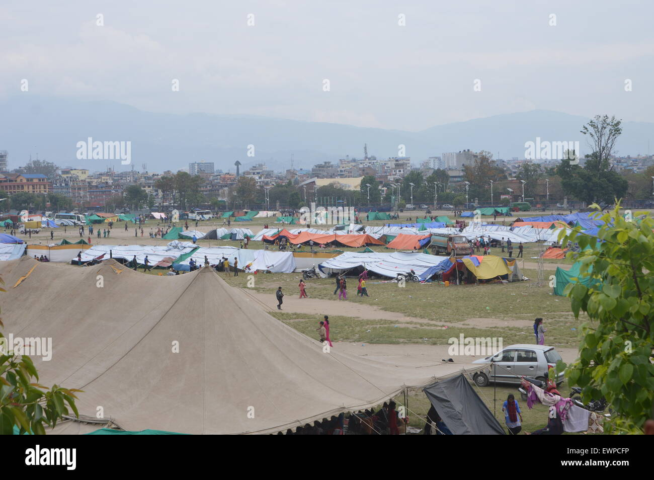 a8ab236af050e8 Survivors of the 7.9 magnitude earthquake that hit Kathmandu on 25 April  2015 living in tents made by the Nepal Army in various open ground field  locations.