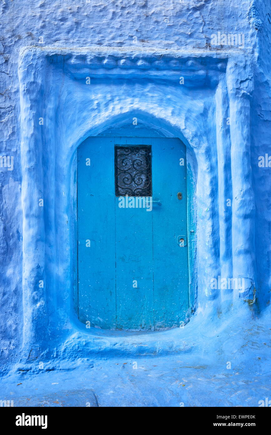 Chefchaouen Old Town (Chaouen) known as Blue City, Morocco, Africa - Stock Image