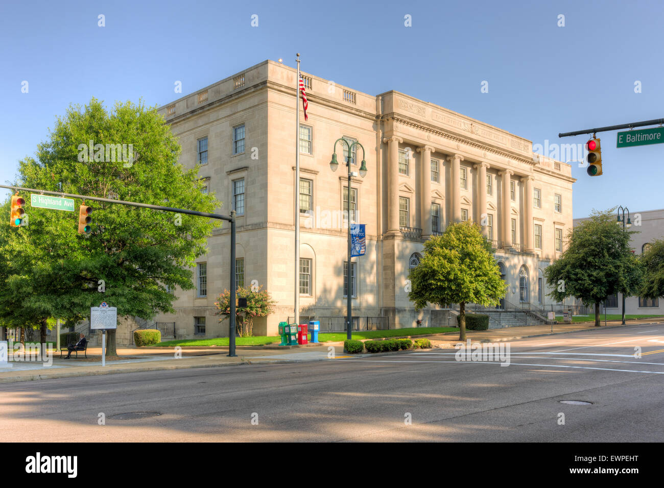 Ed Jones Federal Building and US Courthouse in Jackson, Tennessee. - Stock Image