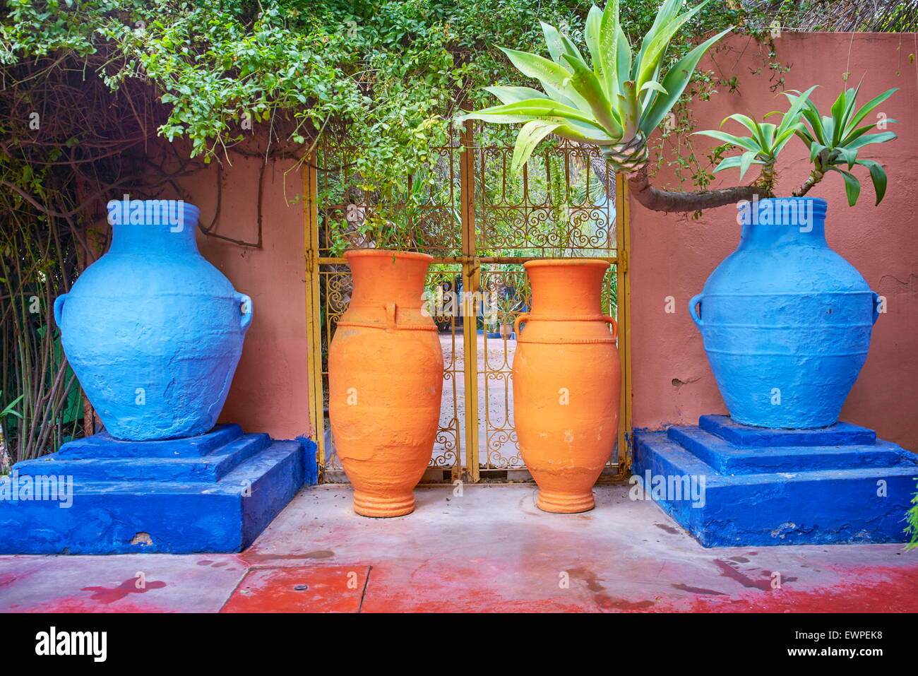 Majorelle Gardens in Marrakesh. Morocco - Stock Image