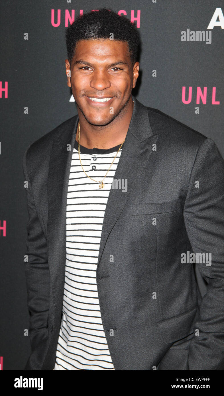AOL 2015 NewFront presents AOL Unleash at the 4 World Trade Center - Arrivals  Featuring: Julius Thomas Where: New - Stock Image