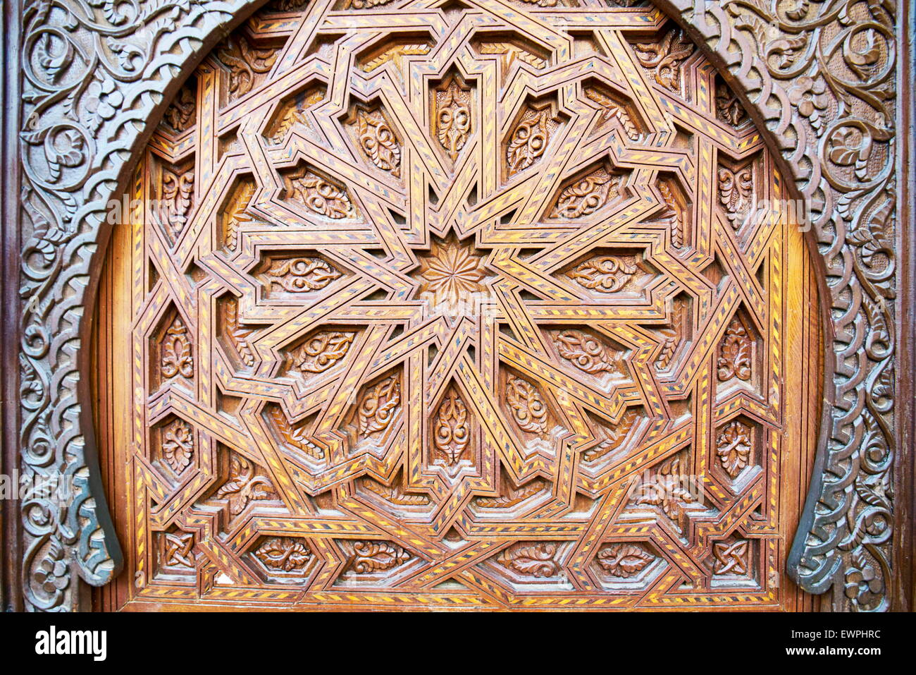 Detail of decorative door, Morocco, Africa - Stock Image
