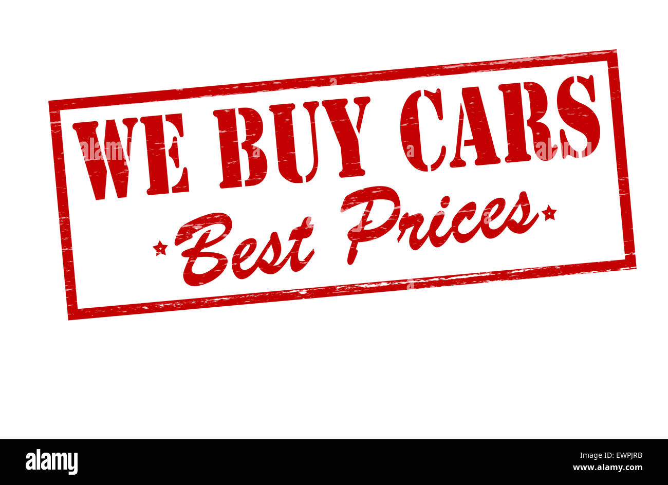 Rubber stamp with text we buy cars inside, illustration Stock Photo ...