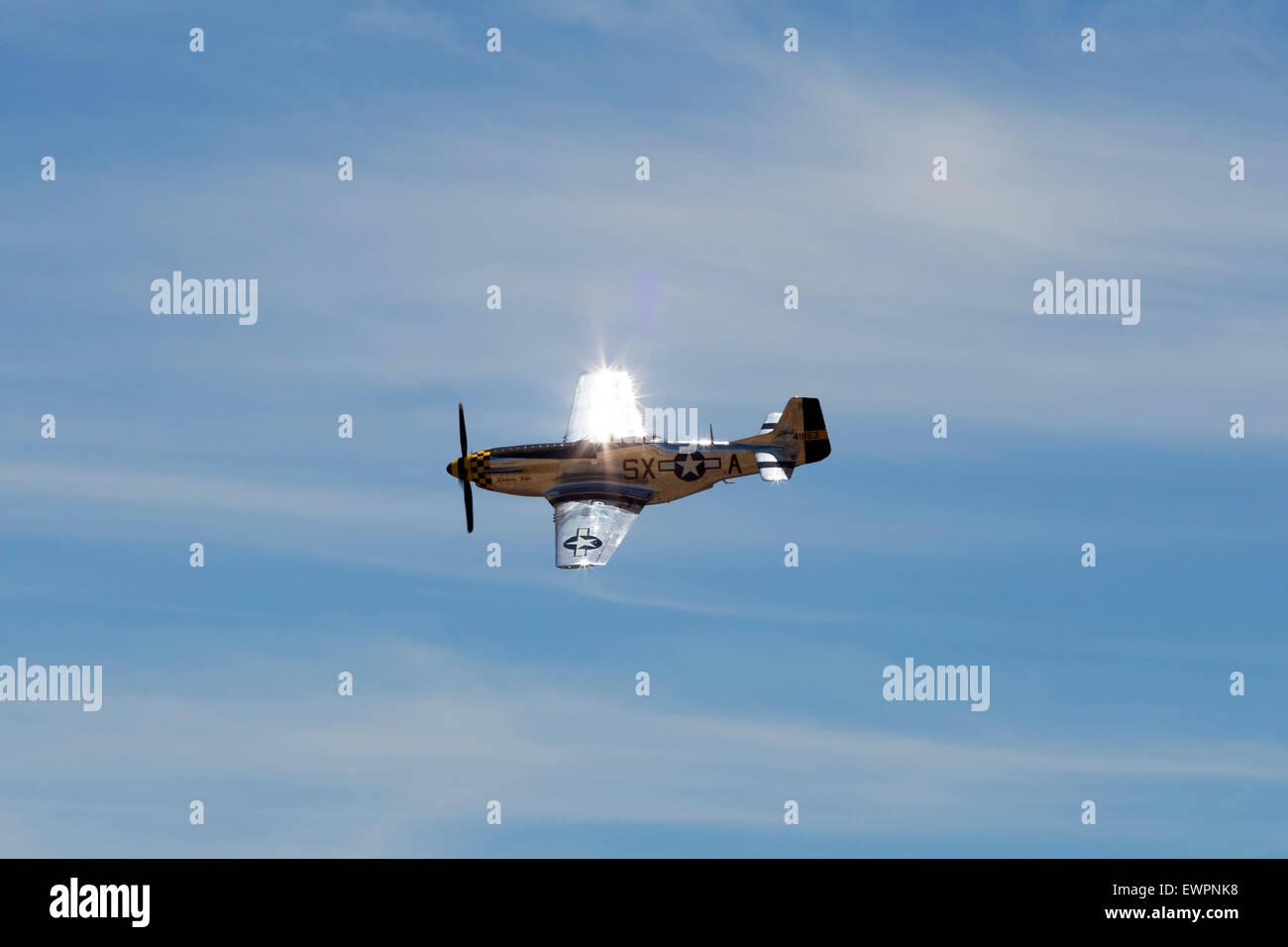 "P-51D Mustang ""Kimberly Kaye"" Stock Photo"