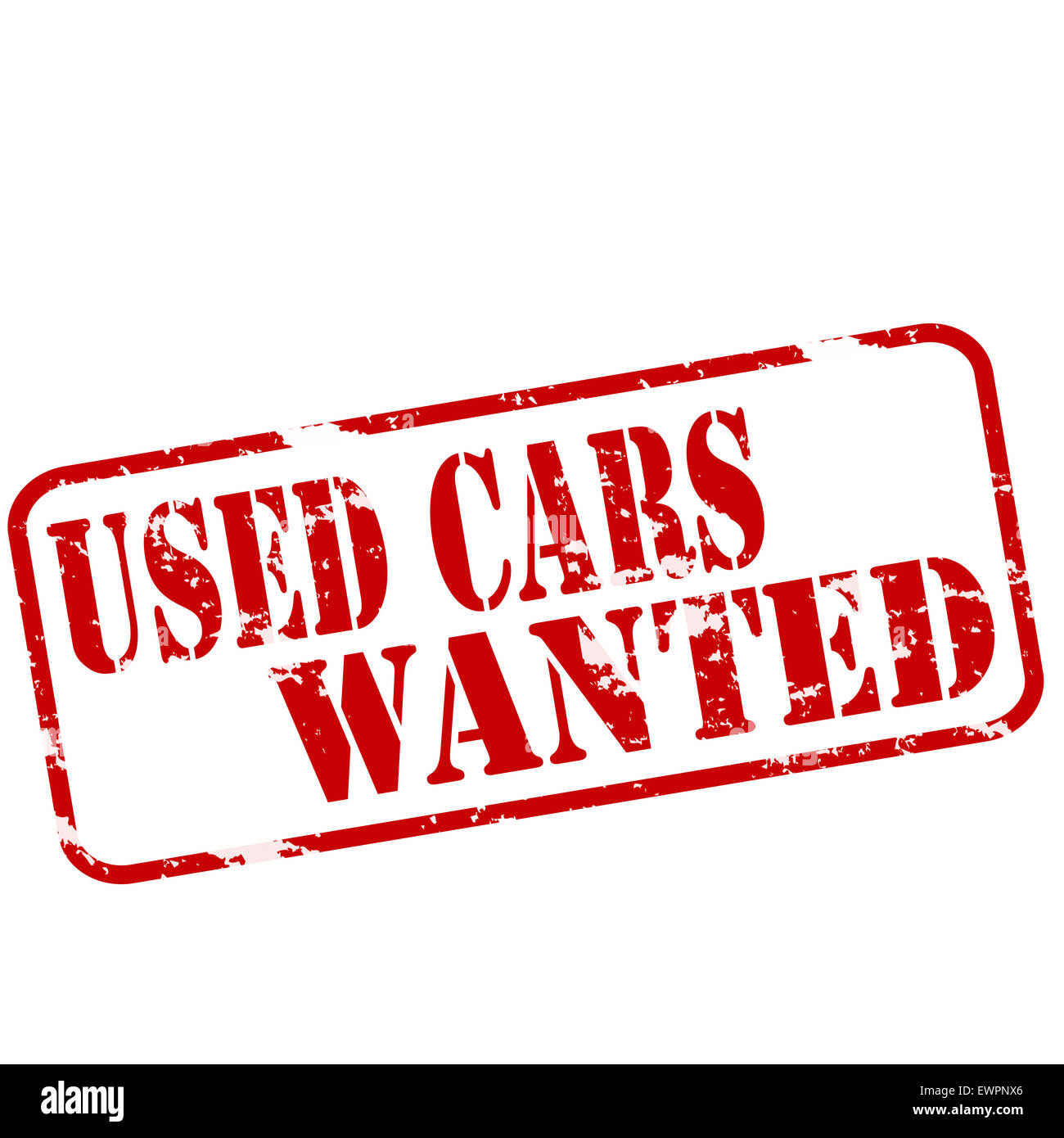 Rubber stamps with text used cars wanted inside, illustration Stock Photo