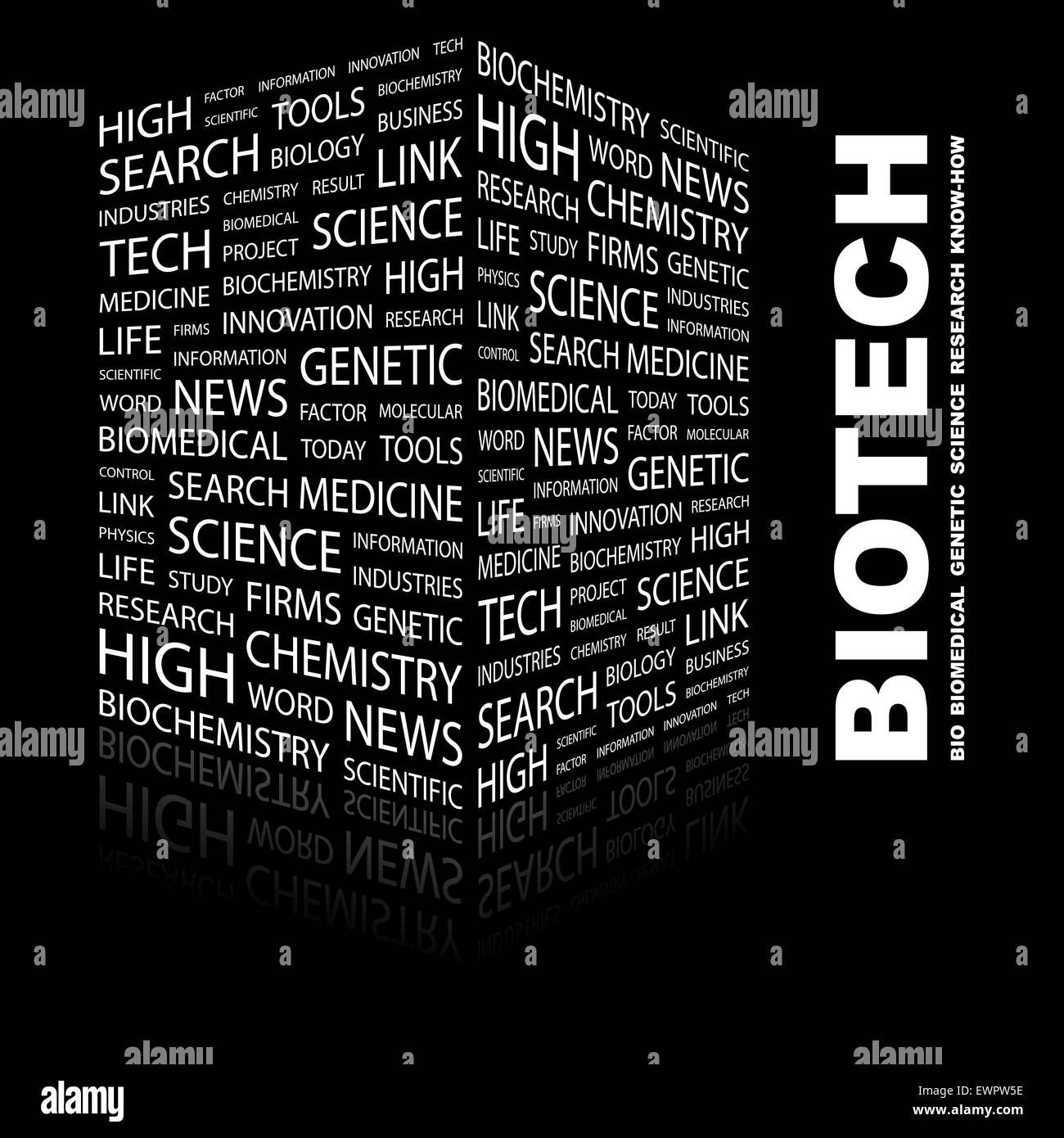 BIOTECH. Word cloud concept illustration. Wordcloud collage. - Stock Vector