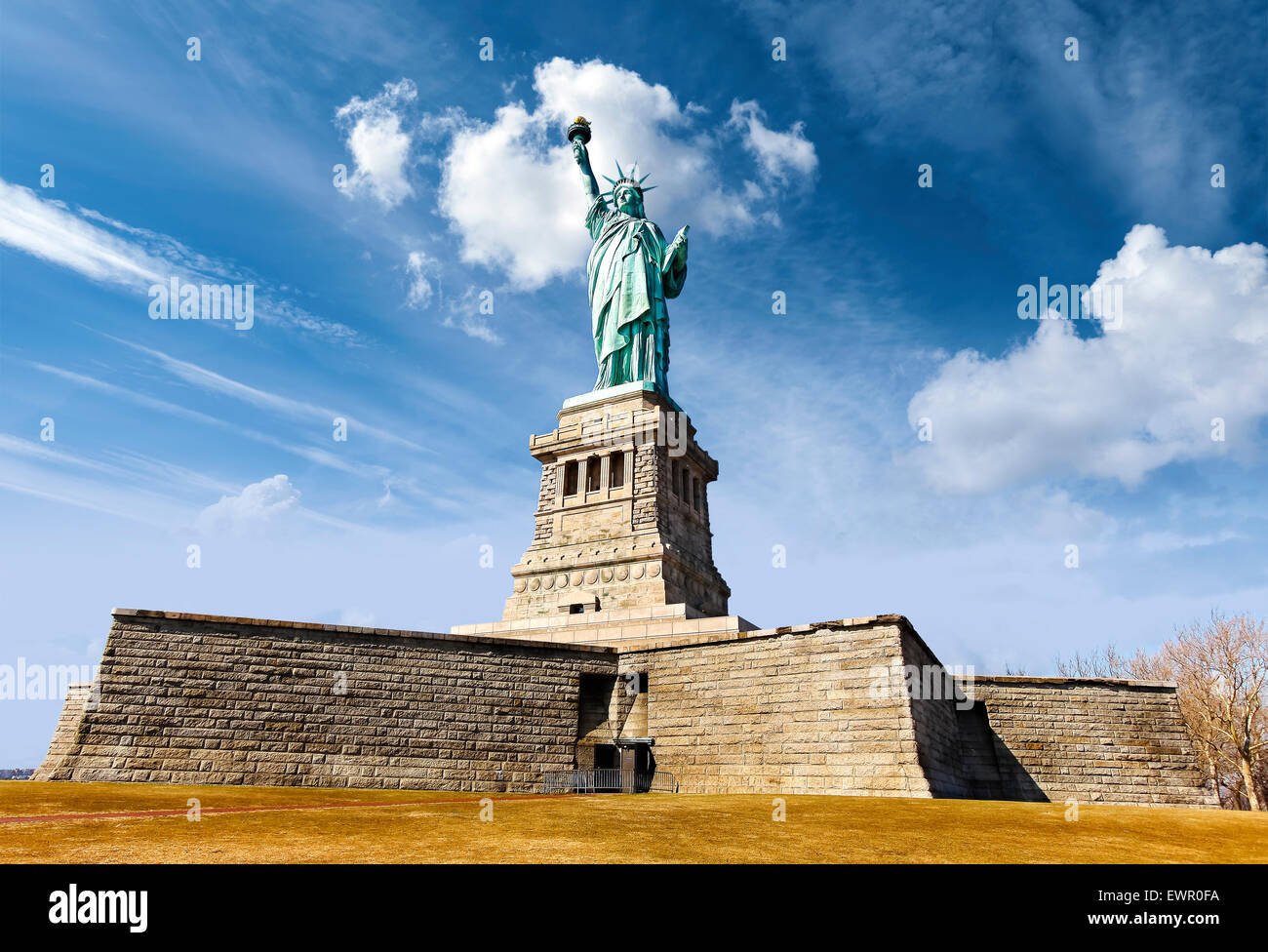 Statue of Liberty in New York City; USA. - Stock Image