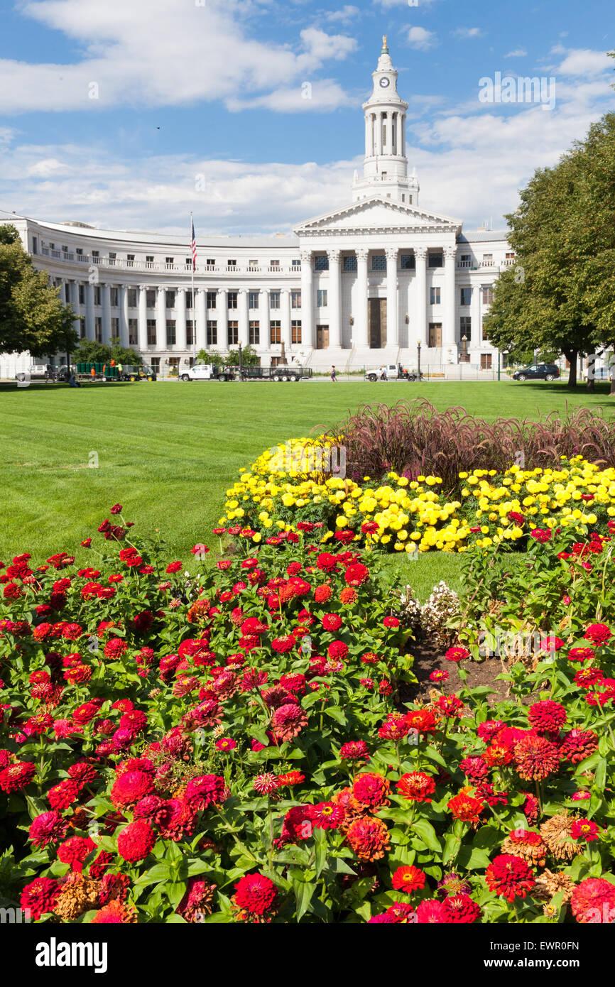 Denver County Court building, Colorado, USA - Stock Image